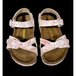 BIRKENSTOCK 165 Girls Strap Sandals 26 8 Floral